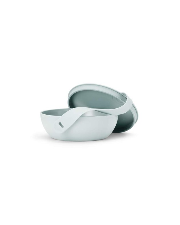 light blue food container bowl