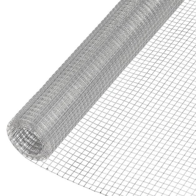 Metal hardware cloth.