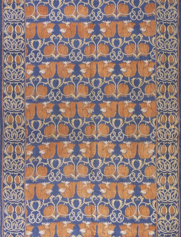 photograph of a block-printed silk textile by Charles Francis Annesley Voysey