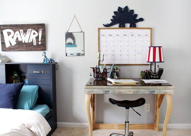 blue-gray kids bedroom