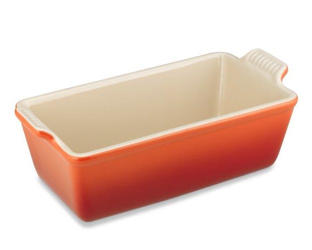 orange Le Creuset loaf pan