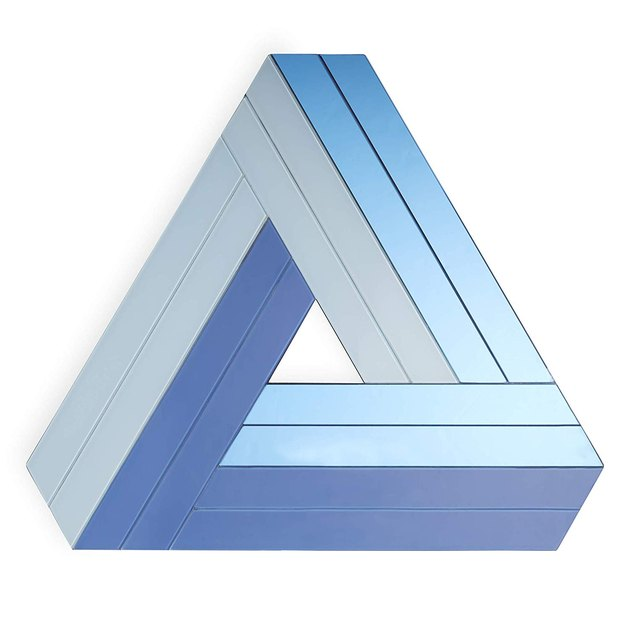 blue triangle wall art