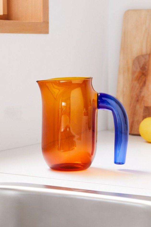 orange glass jug