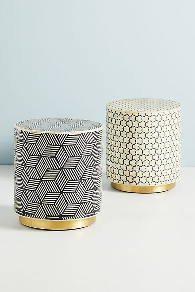 anthropologie inlay side table