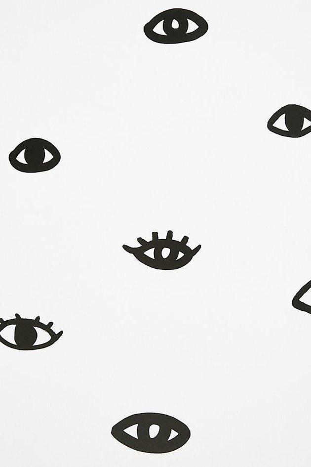 black and white eye wallpaper