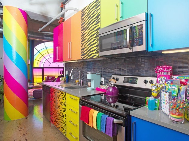 rainbow kitchen space