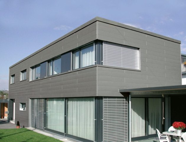 Modern house with aluminum siding