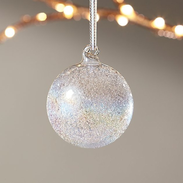 CB2 Kaleidoscopic Glitter Ornament, $3.95