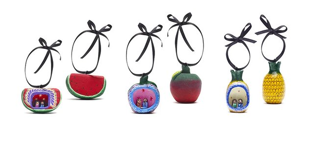 St. Frank Nativity Fruit Ornament Set, $75