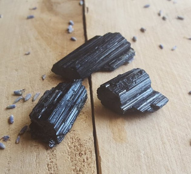raw black tourmaline crystals for protection