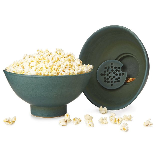 popcorn bowl with kernel with sifter