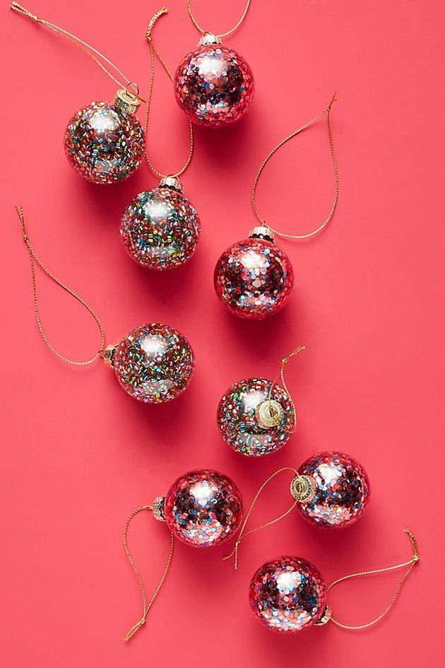 Anthropologie Confetti Ornaments (set of 9), $20