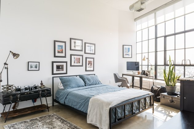Industrial-style bedroom