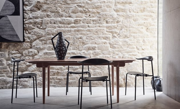 Hans Wegner wooden stacking chairs