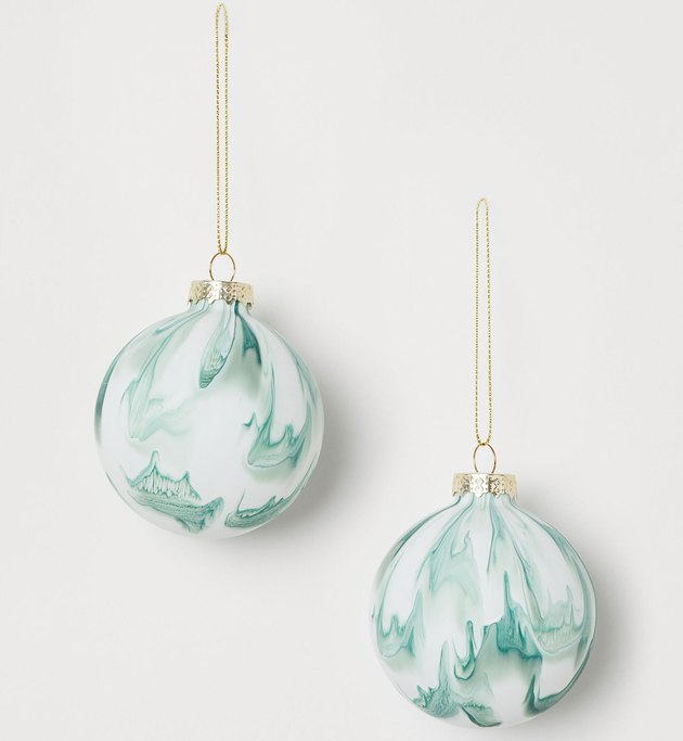 H&M Swirled Glass Ornament (set of 2), $9.99