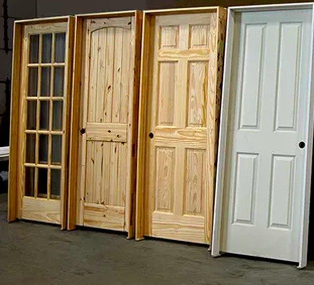 Selection of prehung doors.