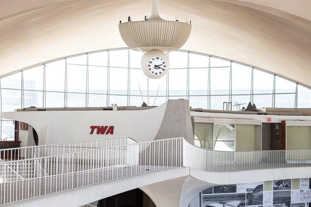 TWA Hotel lobby.