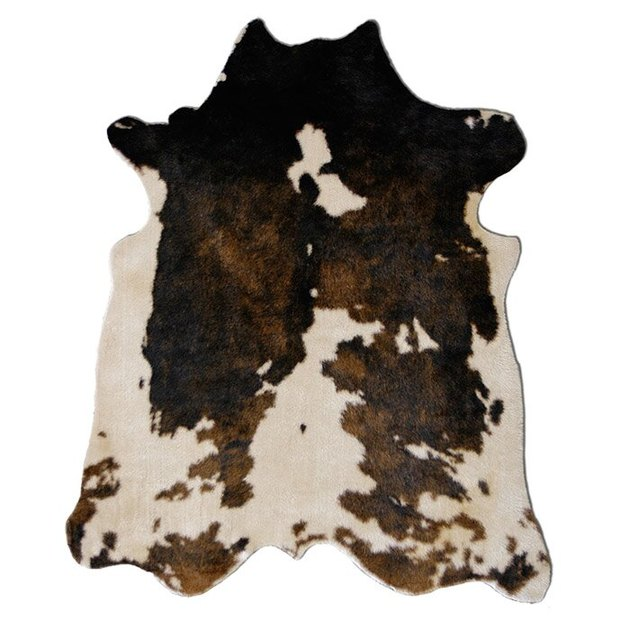 brown and cream faux cowhide rug from Wayfair