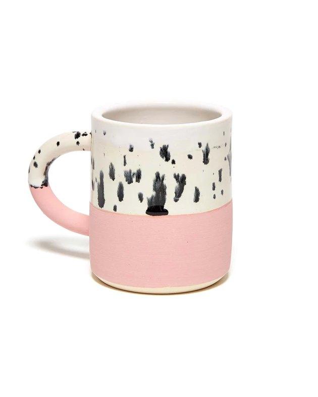 mug with pink bottom