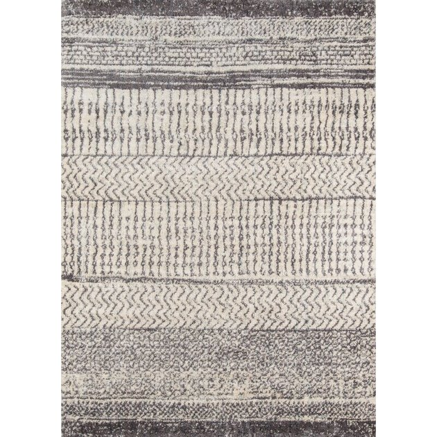 gray and ivory area rug from Wayfair
