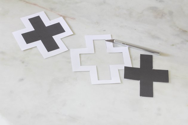Cutting out cross template