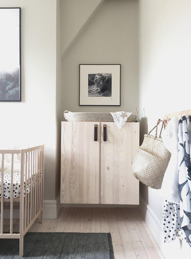 modern Nursery idea with IKEA storage cabinet