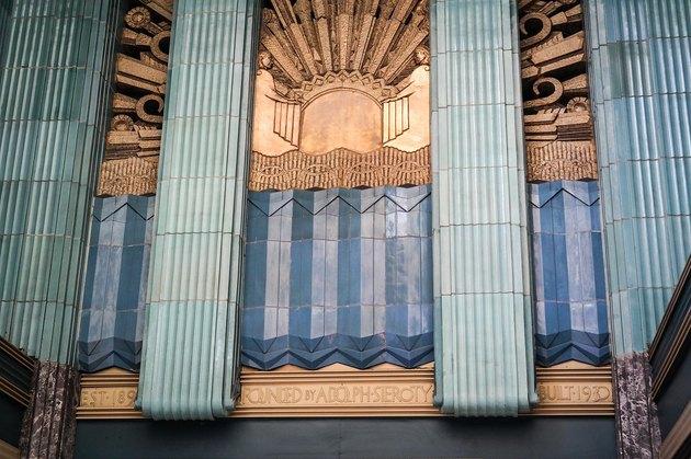 art deco style building facade