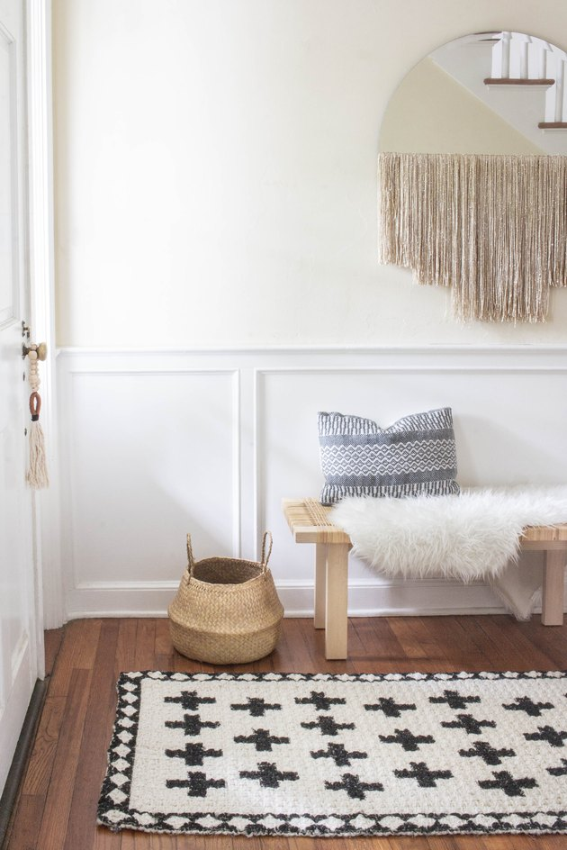 DIY painted jute rug