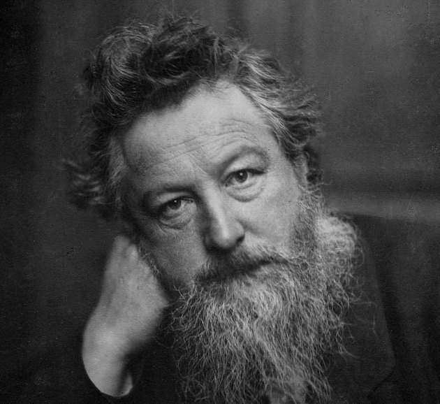 black and white photograph of William Morris