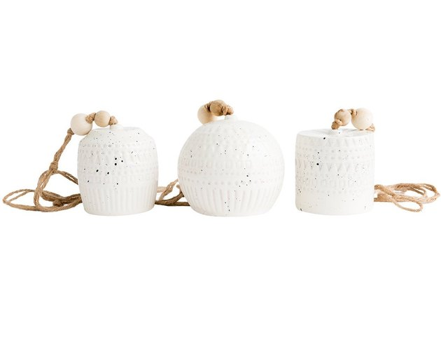 McGee & Co. Stamped Stoneware Bells, $18