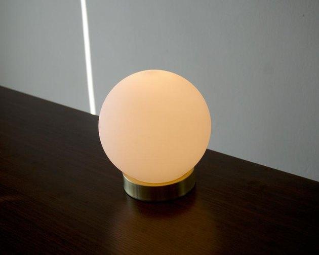 handmade globe lamp