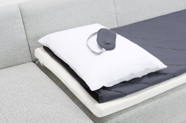 white and gray bed sheets sleep kit