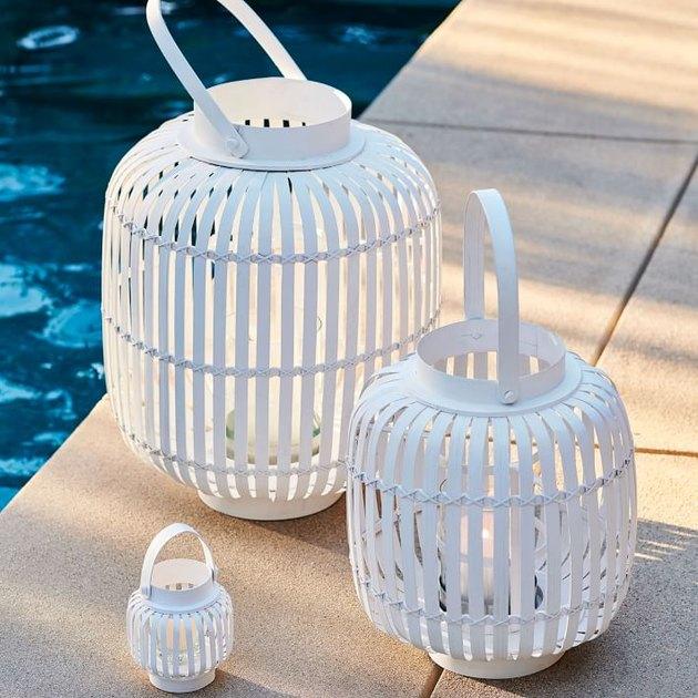 white bamboo lanterns