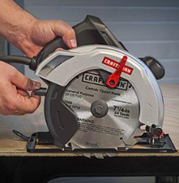 Using a circular saw.