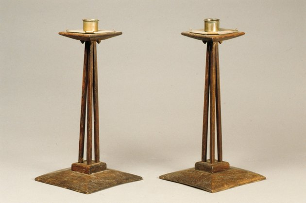 arts and crafts movement candlesticks