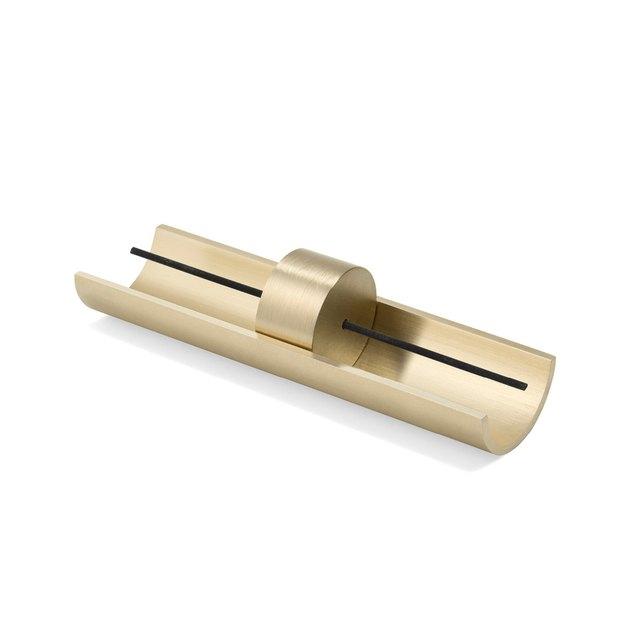 gold minimal incense burner