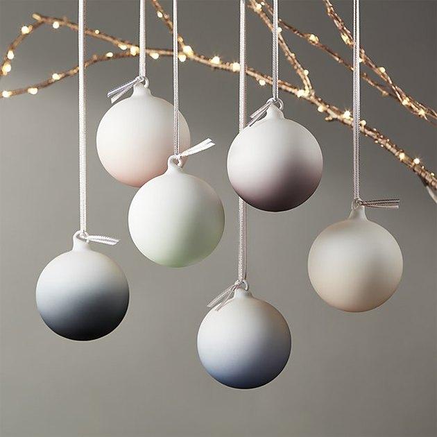 CB2 Ombre Ornaments, $34.95