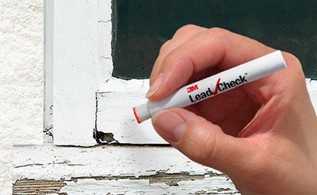 Testing for lead paint.