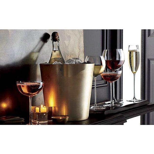 slender-stem wine and champagne glasses