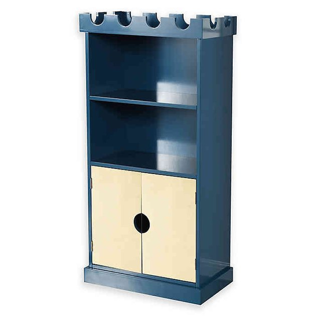 blue castle bookcase