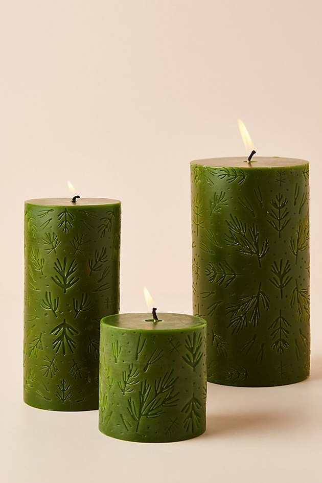 Anthropologie Balsam and Cedar Pillar Candle, $14-$28