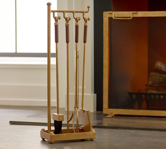Pottery Barn Industrial Fireplace Tool Set, $149
