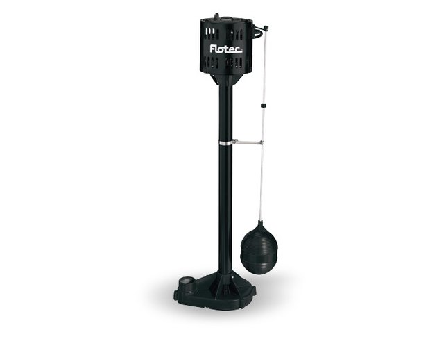 Pedestal sump pump.
