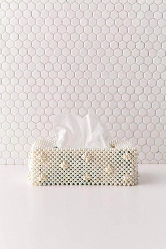 beaded tissue box cover