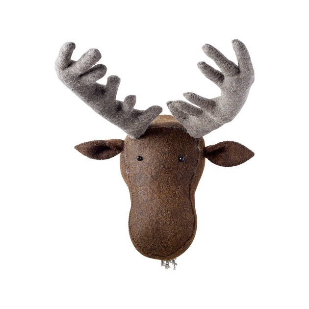 moose stuffed animal head