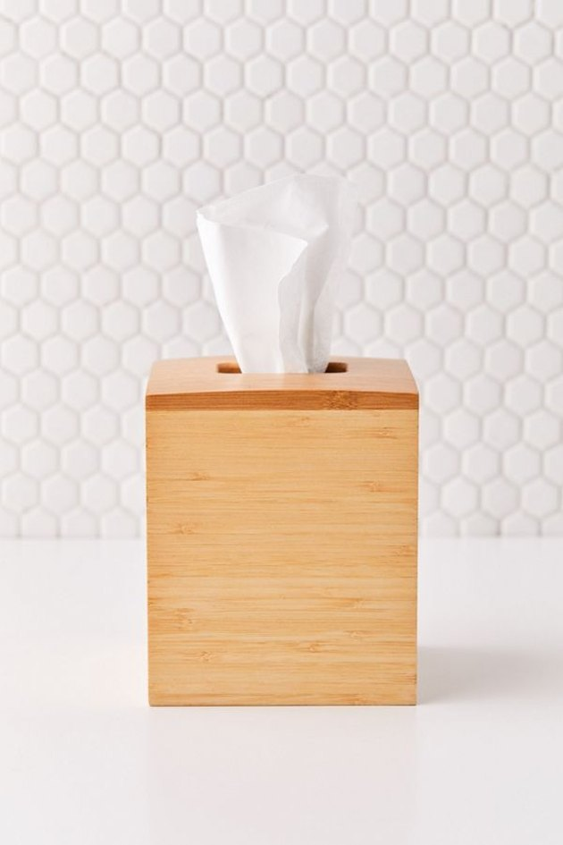 wood tissue box