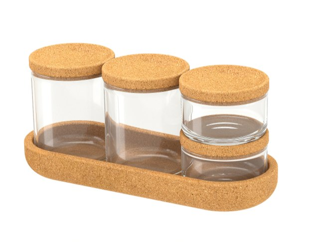 Glass jars with cork lids from Ikea