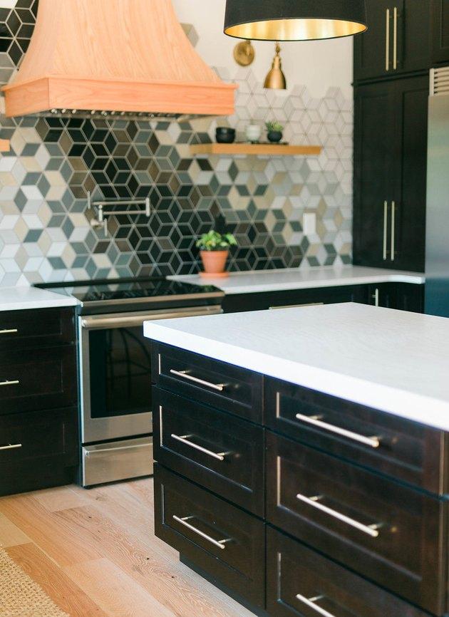 Construction 2 Style Ceramic Tile Kitchen Backsplash