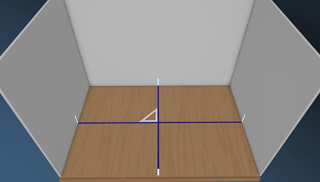 flooring layout lines