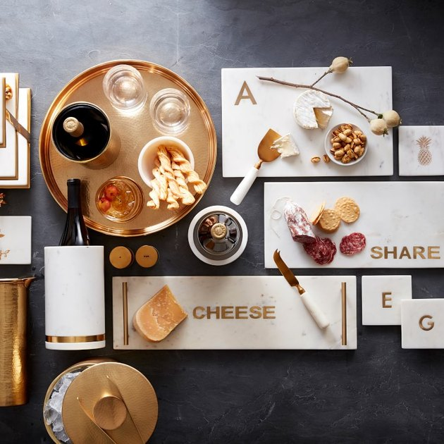 gold cheese plate accessories